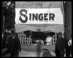 Singer Sewing Co. exhibit;