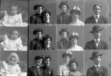 Miss Ada Dudley and friend (3 poses), Lizzie Numms and cousin (3 poses), T. W. Roe (baby - 3...