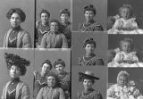 Miss Myrtle Eckley (3 poses), Miss Myrtle Stamps-Eckley and sisters (2 poses), Miss Ida Green (2...