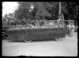 Lincoln School parade float;