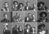 Mrs. R. H. Fryer (little girl - 3 poses), Mr. Burrell and Mr. Poulsen (3 poses), Mr. Tingey and...