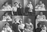 Han P. Anderson (baby), Adolph Christensen and lady (2 poses), Mrs. O. C. Jensen (baby), Mrs....