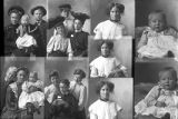 Mrs. Gidney Blackburn and friends (2 poses), Mrs. Parley Christensen (baby - 2 poses), Mrs. Peter...