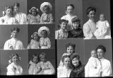 Miss H. Craghead and friends (2 poses), Mrs. William Gidney and baby (2 poses), Peter J. Peterson...