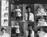 Clara M. Garret (2 poses), Mrs. John Owens (little girl - 2 poses), Mrs. Lillie Poulsen (baby - 3...