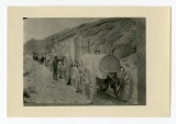Twenty-mule train near Calico, California, 1905