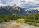 Streams and mountains in  Kananaskis Country, Alberta