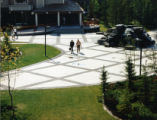 Patio at resort hotel, Kananaskis, Village, Albert, Canada;