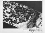 Ribbon Creek Village model, black and white;