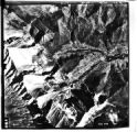 Black and white aerial photo of Kananaskis, Alberta, Canada, 1972;
