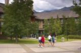 Resort hotel at Kananaskis Village, Alberta, Canada;