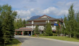 Resort hotel at Kananaskis Village, Alberta, Canada.