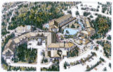 Rendering of Kananaskis Village, Alberta, Canada;