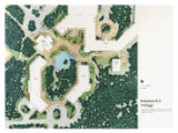 Village core landscape plan of Kananaskis Village, Alberta, Canada;