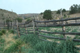 Corrals and pole fencing on ranch near Etna Dam (GCCS_CTC016_11)