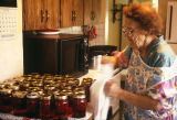 Ella Tanner bottling raspberries (GCCS_CCE010_3)