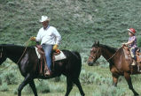 Doug Tanner and son, Tom, on a cattle drive in the Cotton Thomas Basin (GCCS_CTC022_1)