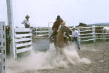 Bronc-riding during the Fourth of July rodeo (GCCS_CTC027_18)