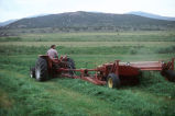 Randy Kimber mowing hay on the Kimber Ranch meadow (GCCS_CTC031_13)