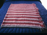 Crocheted afghan on quilted tricot bedspread (GCCS_CCE011_4)
