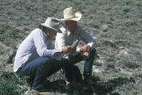 Tom Carter, fieldworker of the Grouse Creek Cultural Survey, with Max Tanner of Grouse Creek, Utah...