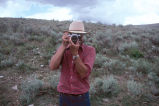 Tom Carter photographing in Grouse Creek, Utah (GCCS_CHC001_16)