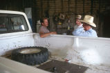 Milt Oman with truck to be fixed at the Simplot shop in Murtaugh, Idaho (GCCS_CHC004_13)