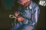 Wallace Betteridge braiding a hondo (GCCS_CHC005_14)