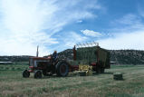 Picking up hay bales with the bale wagon (GCCS_CCF001_12)