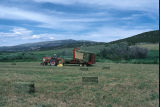 Picking up hay bales with the bale wagon (GCCS_CCF001_14)