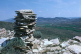 Basque sheepherder monuments above the Nelson Ranch, west of Junction (GCCS_CHC014_19)