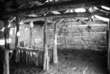Interior view of the barn or stable at the Charles Toyn ranch (GCCS_BRR25559_13)