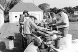 Fourth of July outdoors pancake breakfast served by the Oakley Arts Council (GCCS_BCF231196_14_3)