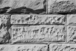 Close-up of local stone on Grouse Creek schoolhouse (GCCS_BCE25496_22A)