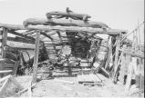 Interior of falling down cabin at Warburton ranch (GCCS_BHC25585_30)