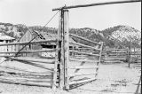 Gate construction detail of the pole fence corral at the Frost Ranch (GCCS_BTC25503_7)