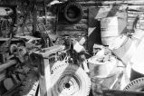 Interior of Edward Frost ranch blacksmith shop in Grouse Creek, Utah (GCCS_BTC25504_33)