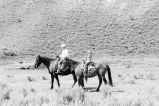 Tom and Doug Tanner riding horses for cattle drive (GCCS_BTC25584_25)