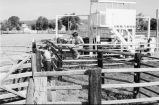 Debbie Randall and Roger Roper measuring the rodeo grounds (GCCS_BTC25587_28)