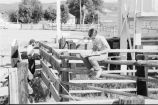 Debbie Randall and Roger Roper measuring the rodeo grounds (GCCS_BTC25587_29)