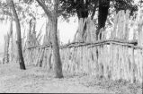 Stockade fencing on the Reese Warburton ranch (GCCS_BTC25591_7)