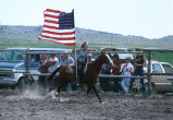 Racing flags around the rodeo arena (GCCS_CCF017_1)