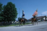Teenaged riders lead 4th of July parade with U.S. and Utah flags (GCCS_CCE014_14)