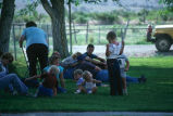 Visiting and relaxing on the lawn during the 4th of July celebration (GCCS_CCE016_6)