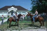 Equestrian flag bearers after 4th of July parade (GCCS_CCE015_4)