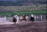 Bronc riding event in the 4th of July rodeo (GCCS_CCE017_17)