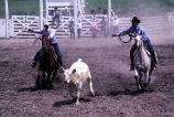 Team roping event during the 4th of July rodeo (GCCS_CCE017_2)