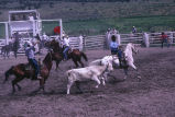 Team roping event during the 4th of July rodeo (GCCS_CCE017_3)