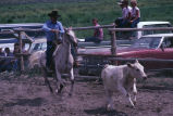 Team roping event during the 4th of July rodeo (GCCS_CCE017_4)