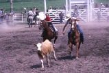 Team roping event during the 4th of July rodeo (GCCS_CCE017_5)